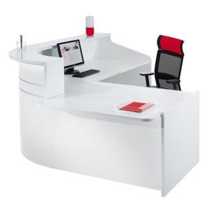 Gloss reception desk